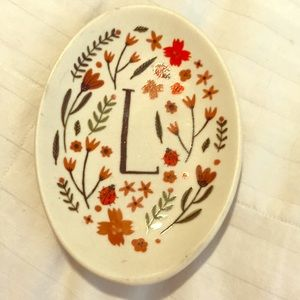 Monogram soap/trinket dish